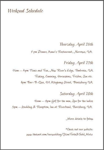 rsvp wording for multiple event wedding weddingbee